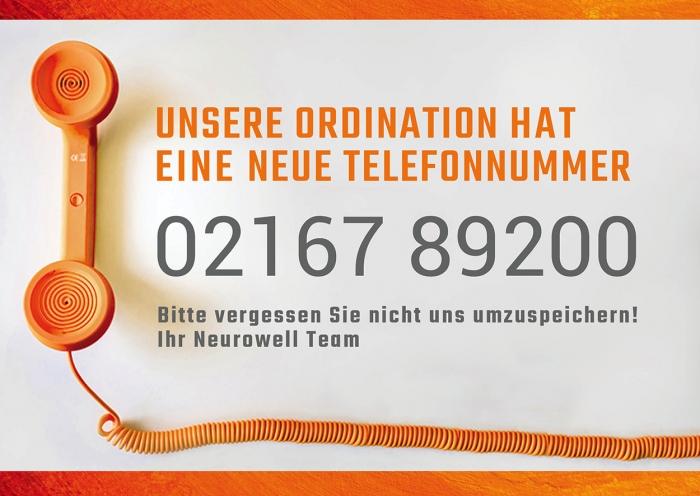 Neue Telefonnummer Neurowell